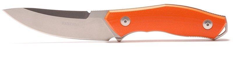 Фото 4 - Нож с фиксированным клинком Fantoni, C.U.T. Fixed, FAN/CUTFxBkOrKy, сталь CPM-S30V, рукоять cтеклотекстолит G-10, оранжевый