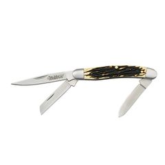 Нож складной Camillus Grandpa 3-Blade, сталь 440А, рукоять Carbon Fiber, нержавеющая сталь, фото 2