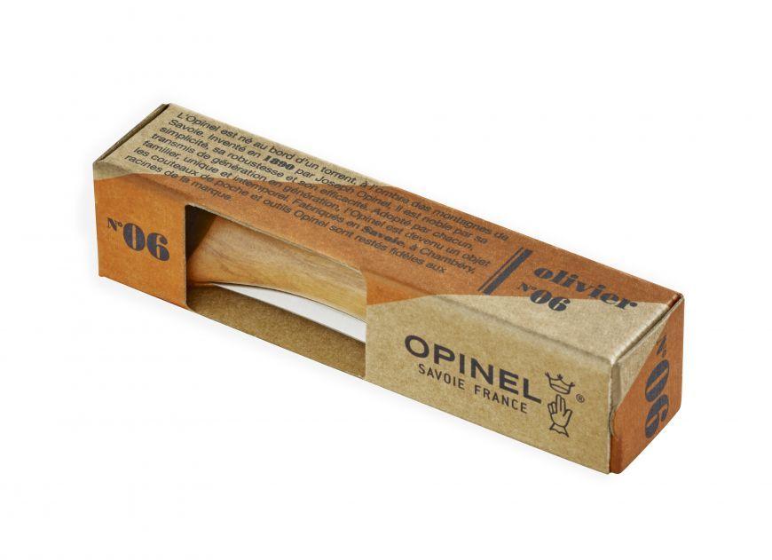 Фото 3 - Нож складной Opinel №6 Olive Wood, сталь Sandvik™ 12С27, рукоять оливковое дерево, 002023