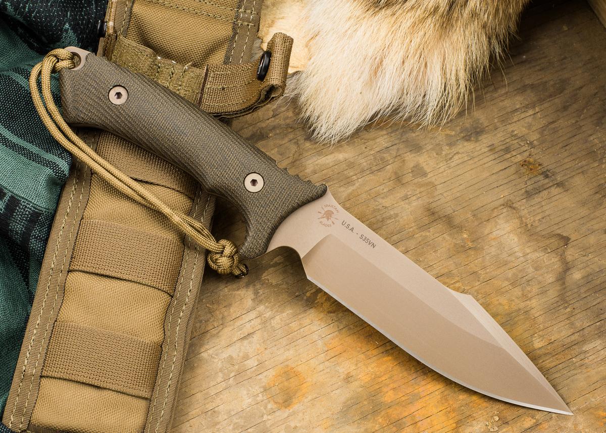 Фото 14 - Нож с фиксированным клинком Spartan Blades Harsey Hunter Combat, сталь CPM-S35VN, рукоять микарта, зеленый