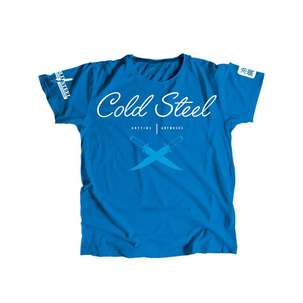 Футболка Cold Steel Cross Guard Blue Tee for Women женская, размер M, голубая