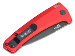 Полуавтоматический складной нож Launch 3 - Kershaw 7300RDBLK Red, сталь Crucible CPM® 154, рукоять анодированный алюминий, красный, фото 10