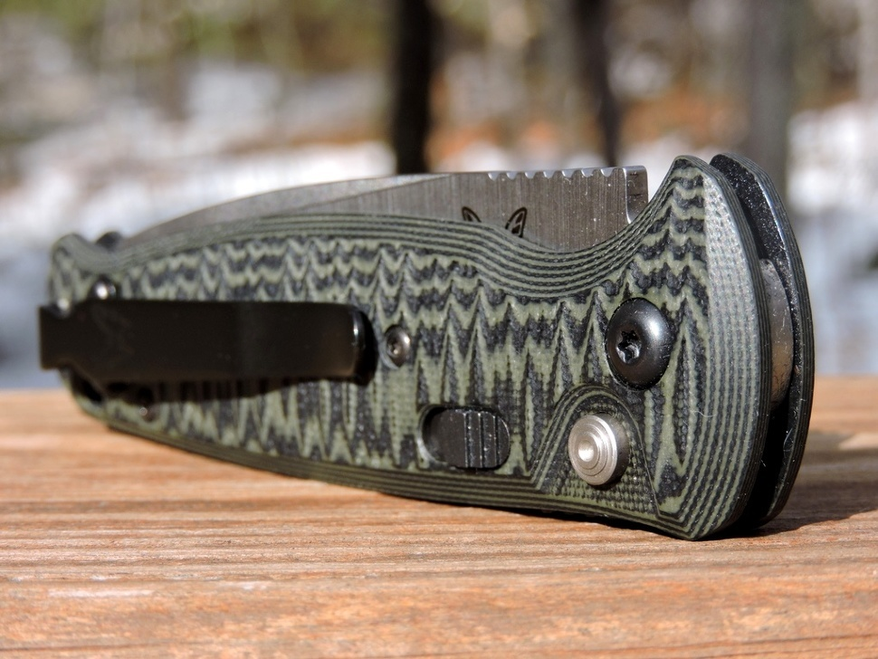 Фото 3 - Полуавтоматический нож Benchmade 4300-1 CLA (Composite Lite Auto), сталь 154CM, рукоять G10