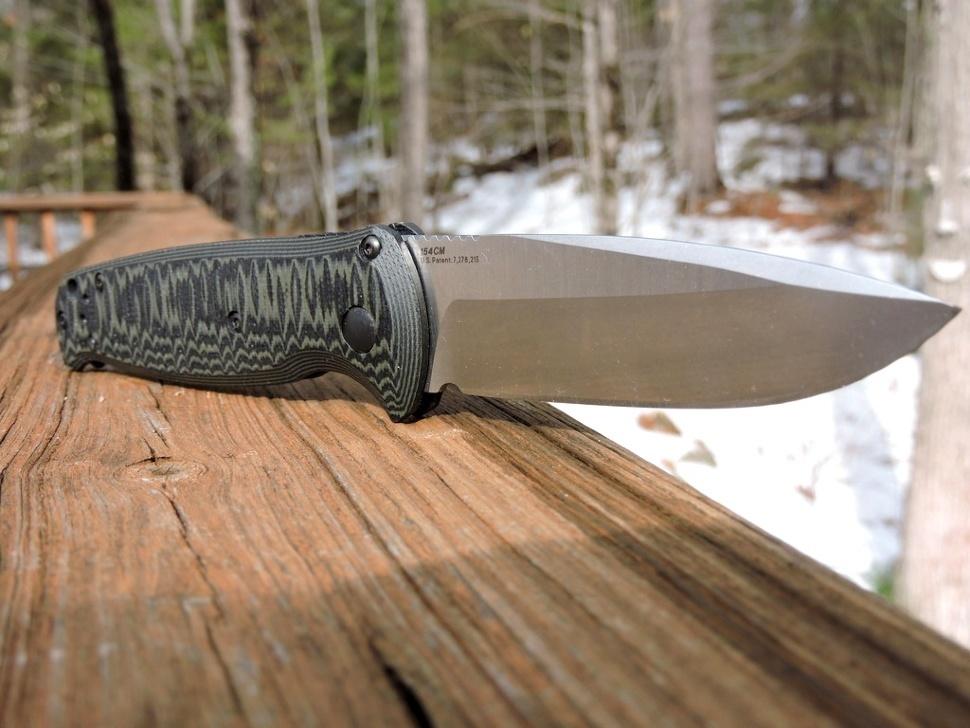 Фото 5 - Полуавтоматический нож Benchmade 4300-1 CLA (Composite Lite Auto), сталь 154CM, рукоять G10