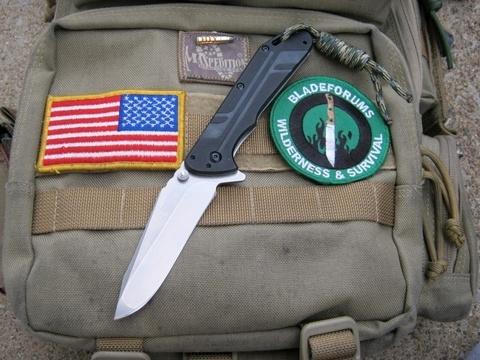 Складной нож Thermite KERSHAW 3880, сталь 8Cr13MOV Stonewashed, рукоять G10/сталь 410. Вид 6
