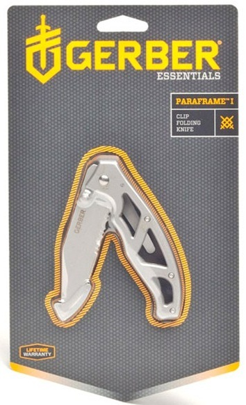 Фото 7 - Складной нож Gerber Paraframe Pckt Folding 1 DP SE, сталь 7Cr17MoV, рукоять сталь 3CR13