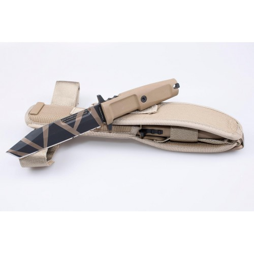 Фото 5 - Нож с фиксированным клинком Extrema Ratio Fulcrum S, Desert Warfare, Plain Edge, сталь Bhler N690, рукоять пластик