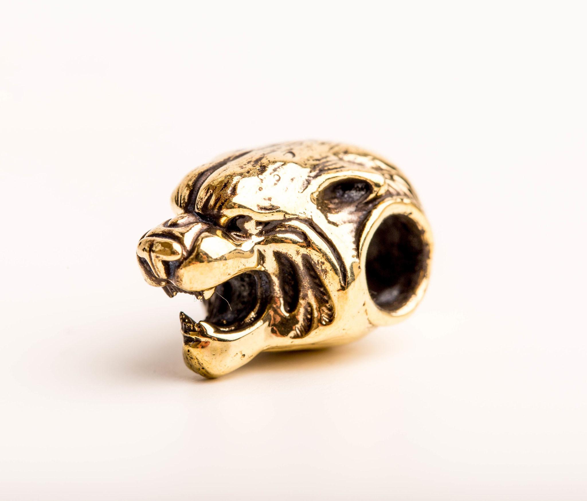 Бусина Тигр, бронза