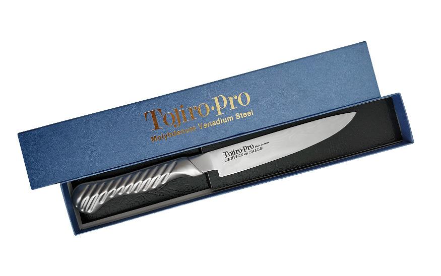 Фото 3 - Нож Универсальный Service Knife, Tojiro, FD-702, сталь VG-10, серый