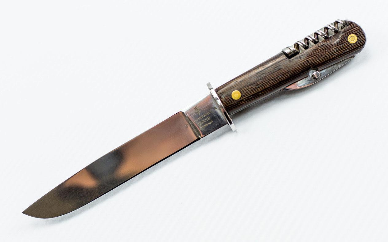 Многопредметный нож Окопник (Егерский) 95Х18, венге от Фабрика Баринова