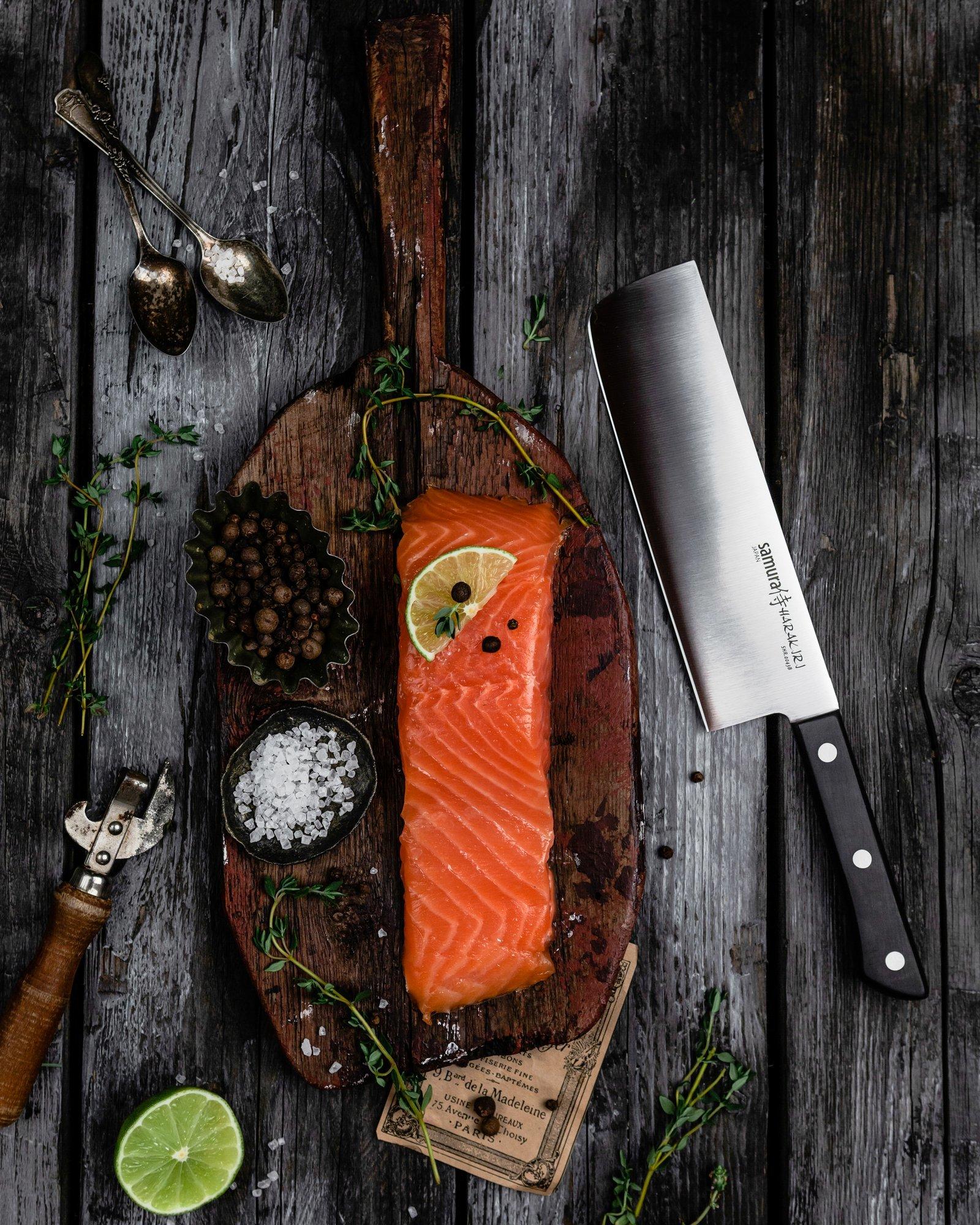 Фото 10 - Нож кухонный овощной накири Samura