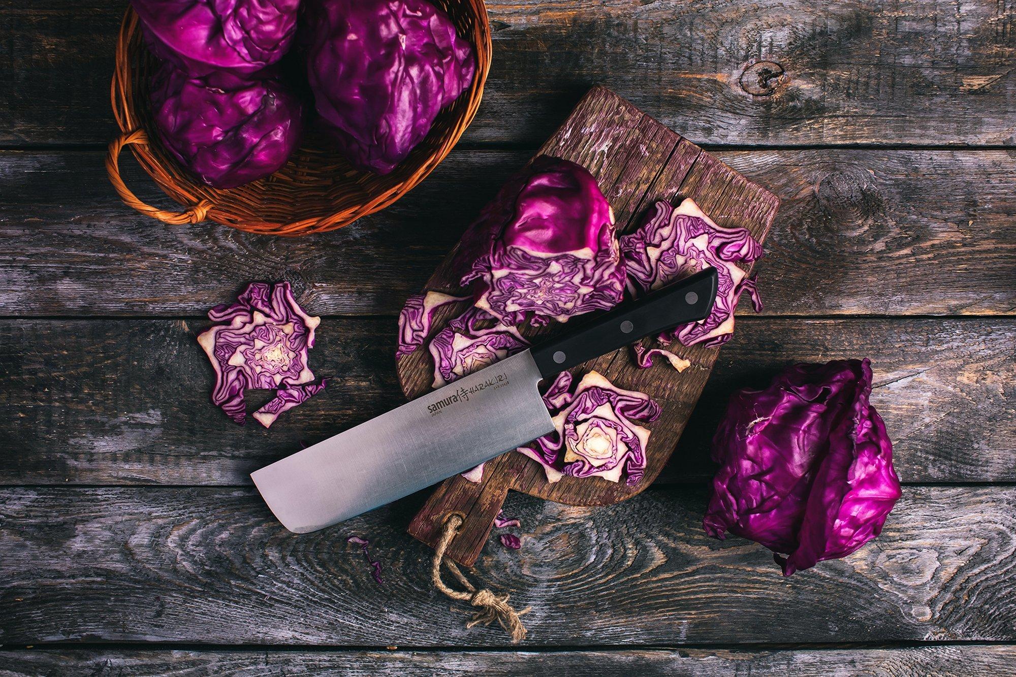 Фото 9 - Нож кухонный овощной накири Samura
