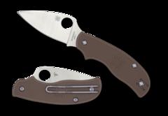 Складной нож Spyderco Urban SPRINT RUN C127PBN, сталь AEB-L Satin Plain, рукоять пластик FRN, коричневый, фото 2