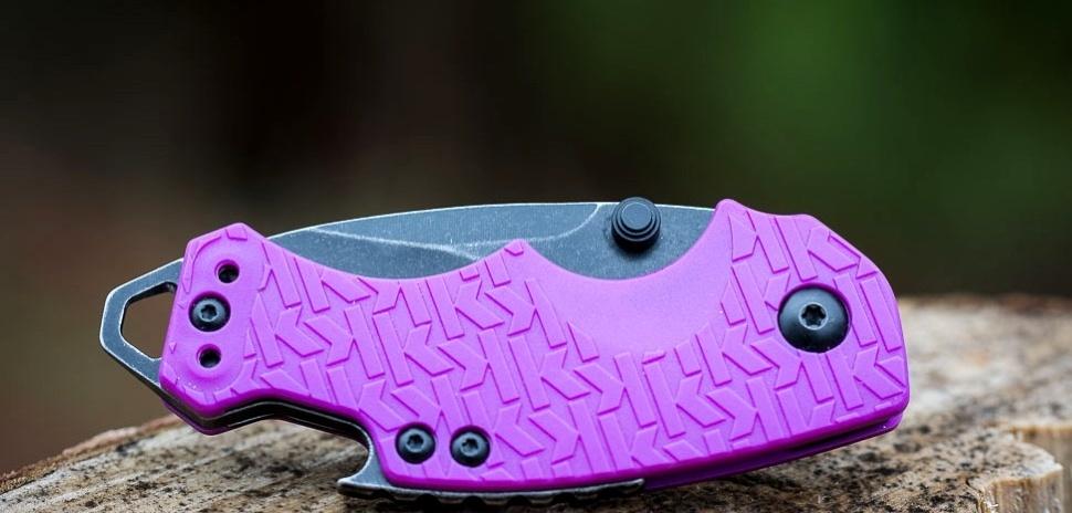 Фото 5 - Нож складной Shuffle - KERSHAW 8700PURBW, сталь 8Cr13MoV c покрытием BlackWash™, рукоять текстурированный термопластик GFN фиолетового цвета