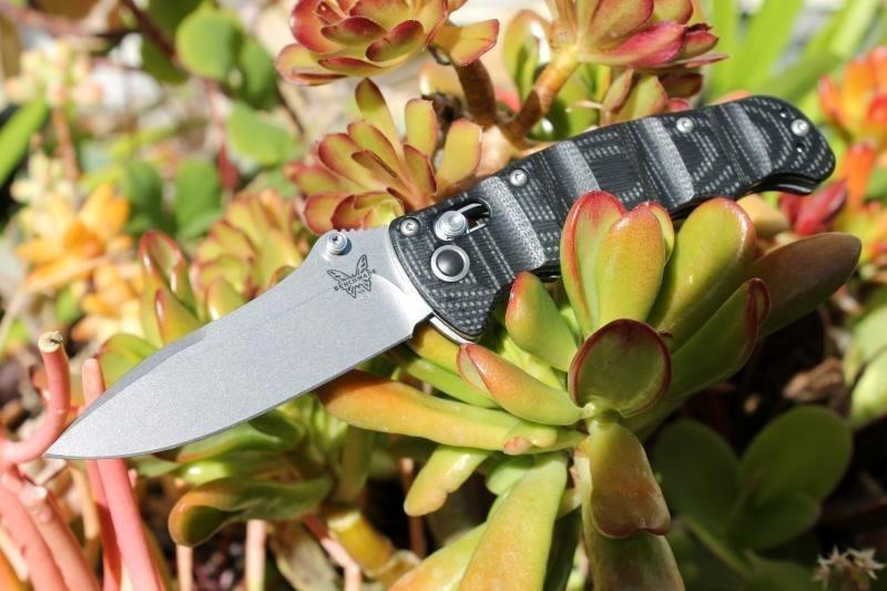 Фото 5 - Складной нож Benchmade Nakamura 484, сталь M390, рукоять G-10