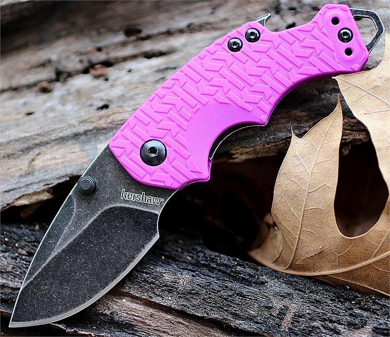 Нож складной Shuffle - KERSHAW 8700PURBW, сталь 8Cr13MoV c покрытием BlackWash™, рукоять текстурированный термопластик GFN фиолетового цвета