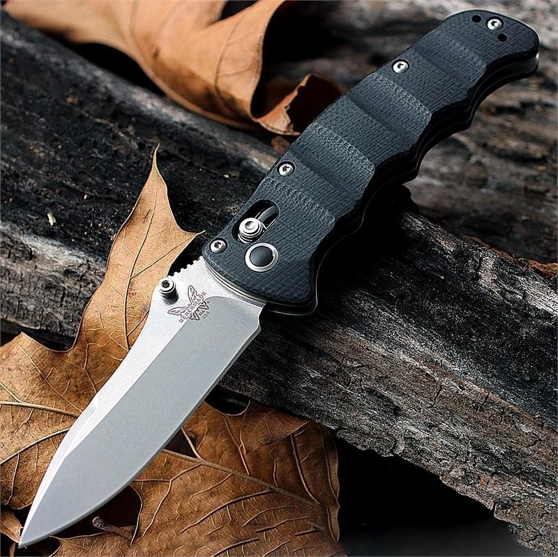 Фото 7 - Складной нож Benchmade Nakamura 484, сталь M390, рукоять G-10