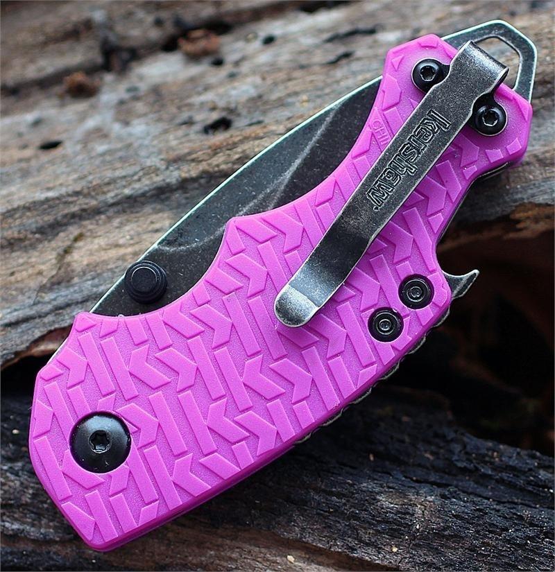 Фото 9 - Нож складной Shuffle - KERSHAW 8700PURBW, сталь 8Cr13MoV c покрытием BlackWash™, рукоять текстурированный термопластик GFN фиолетового цвета