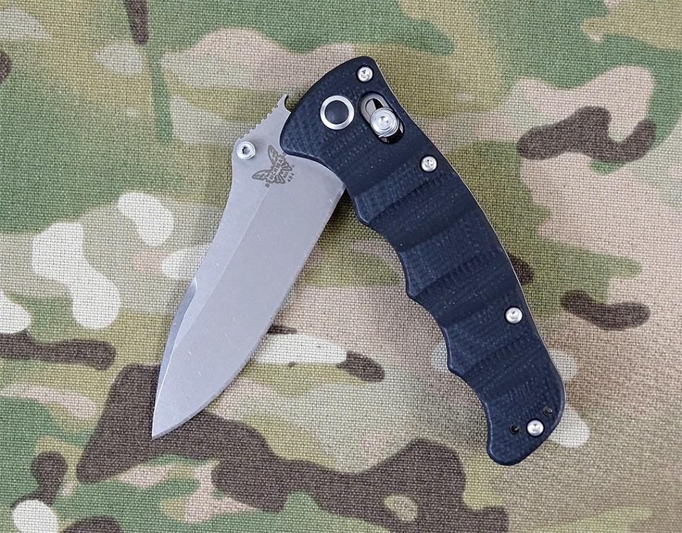 Фото 8 - Складной нож Benchmade Nakamura 484, сталь M390, рукоять G-10