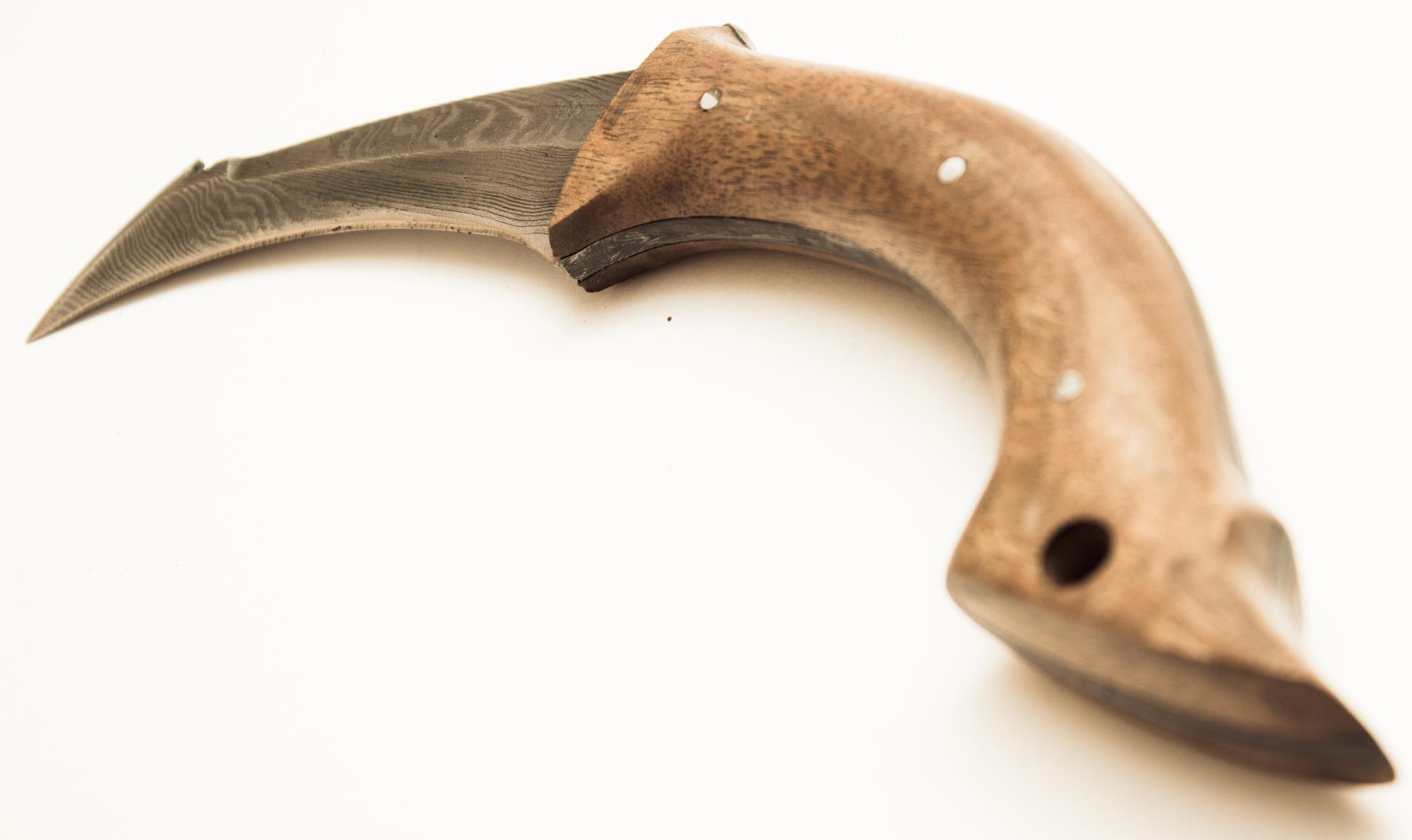 Фото 10 - Нож-керамбит Скорпион, дамасская сталь от Павловские ножи