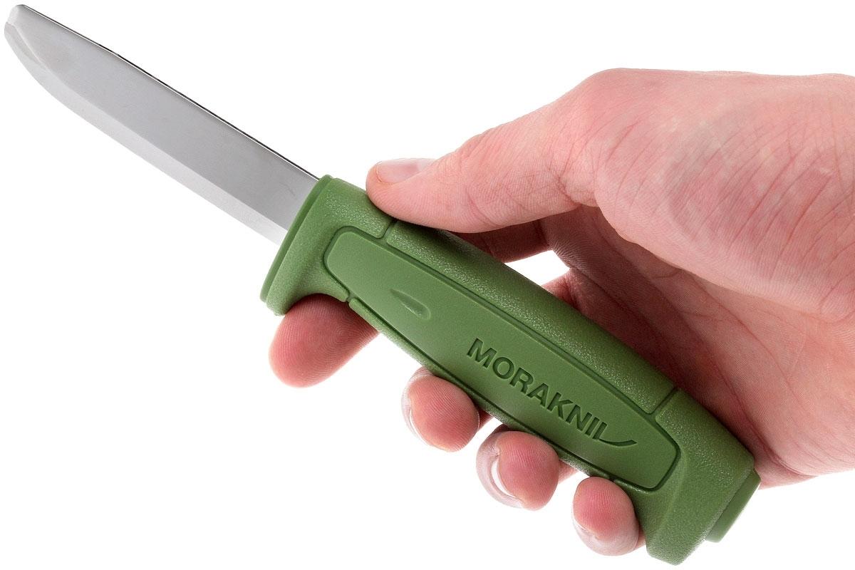 Фото 9 - Нож с фиксированным лезвием Morakniv SAFE, углеродистая сталь, рукоять пластик, зеленый