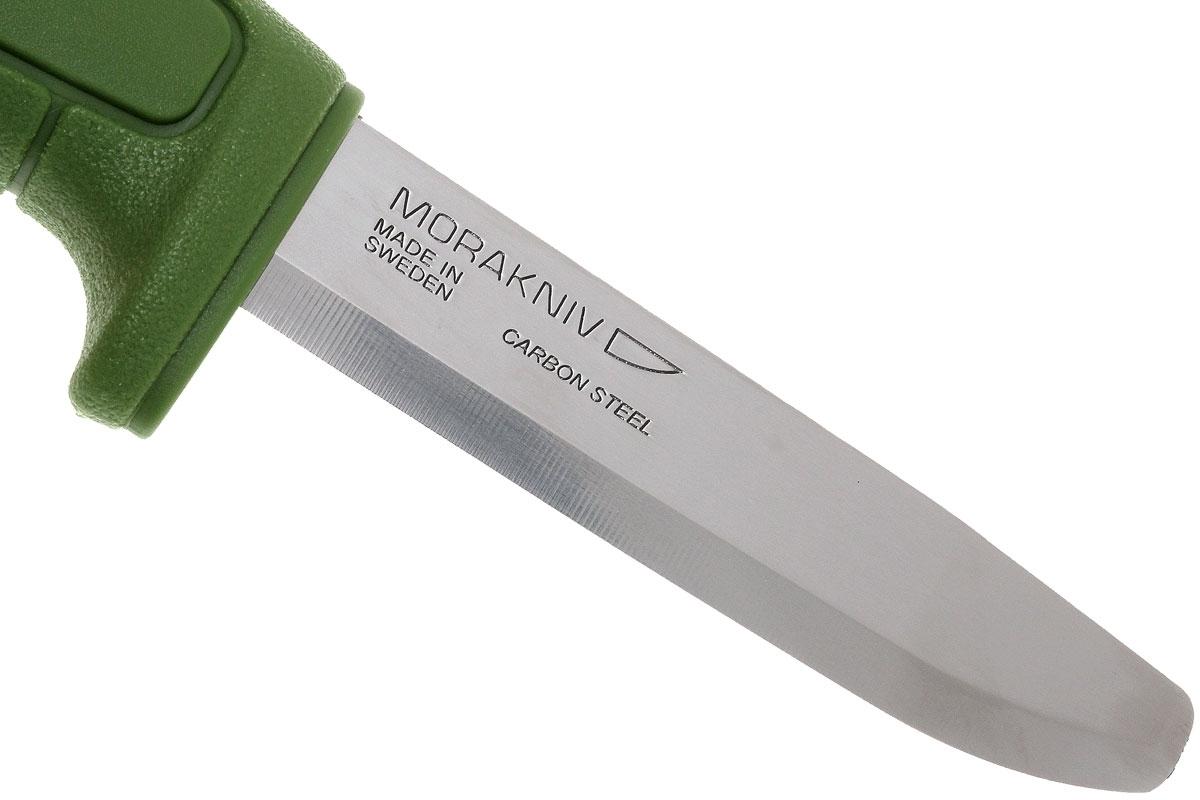 Фото 12 - Нож с фиксированным лезвием Morakniv SAFE, углеродистая сталь, рукоять пластик, зеленый