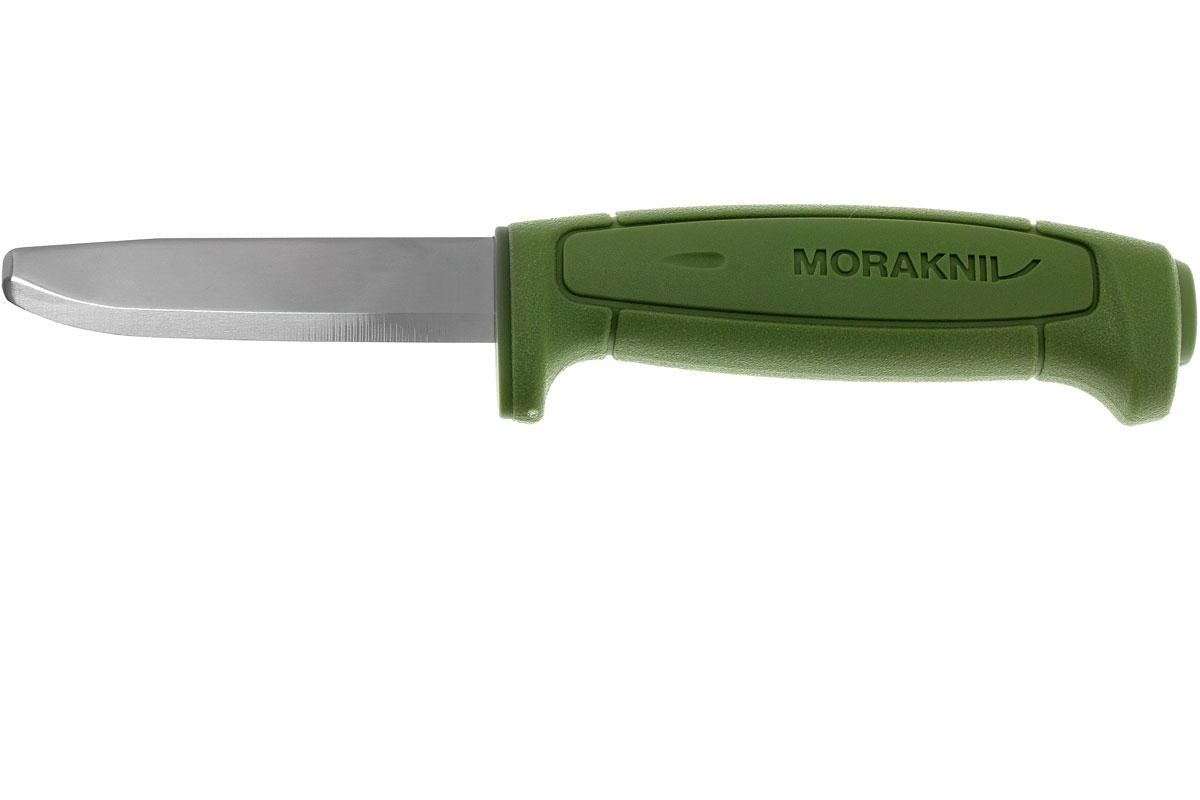 Фото 5 - Нож с фиксированным лезвием Morakniv SAFE, углеродистая сталь, рукоять пластик, зеленый