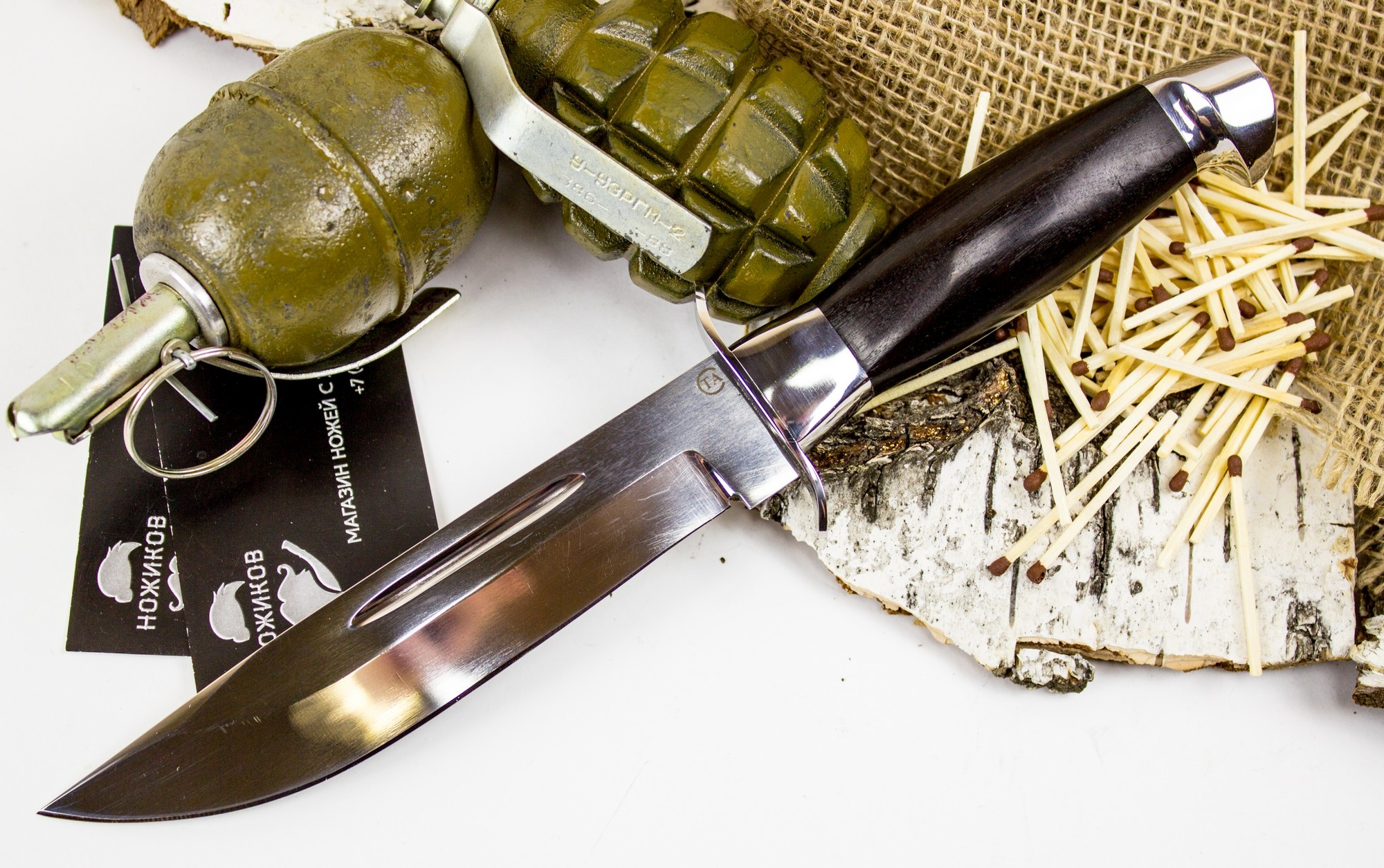 Фото 6 - Нож Макс, сталь 95х18, граб от Титов и Солдатова