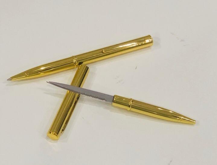 Купить со скидкой Скрытая ручка-нож Штурм, золотая