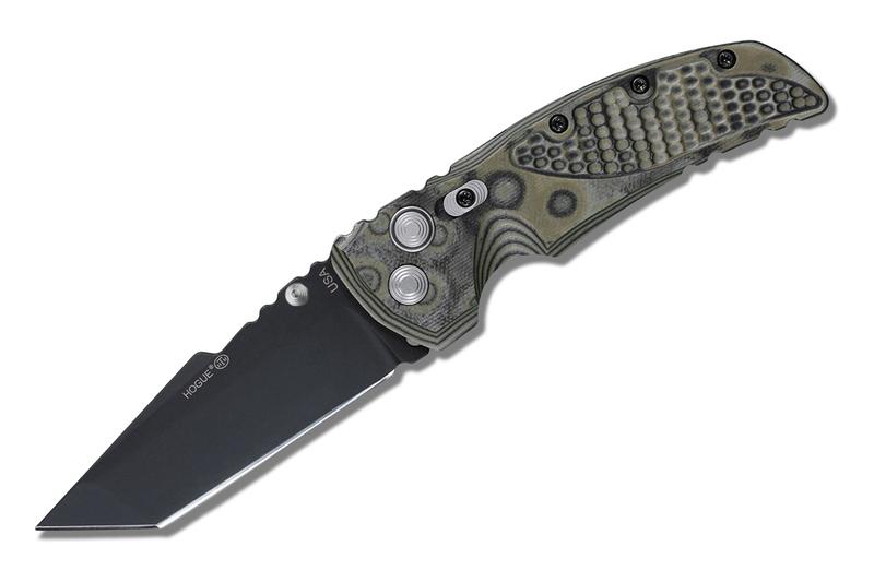 Складной нож Hogue EX-01 Black Tanto, сталь 154CM Ceracote™ Firearm Coating, рукоять стеклотекстолит G-Mascus, серо-зеленый