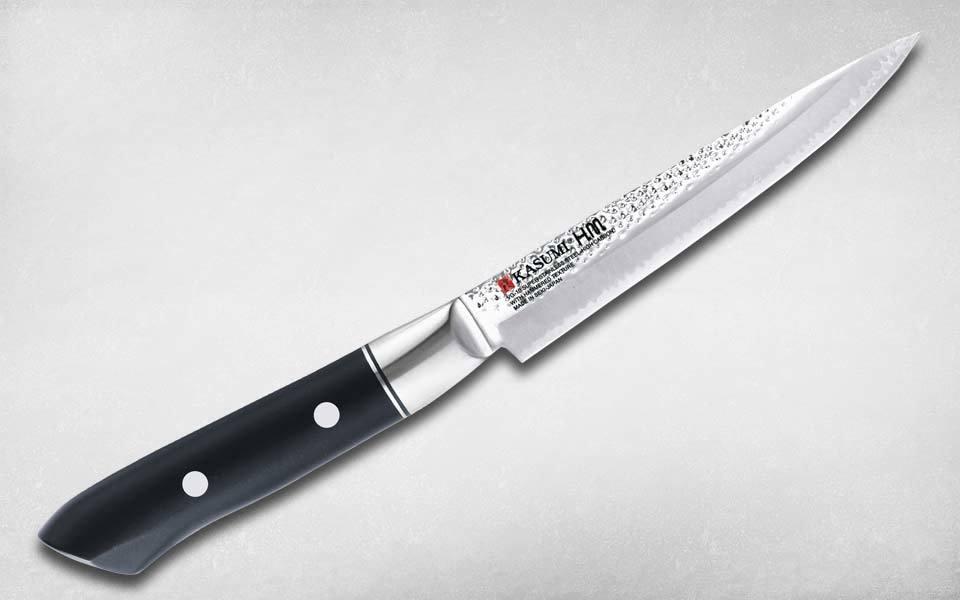 Нож кухонный универсальный Hammer Utility 120 мм, Kasumi, 72012, сталь VG-10, полимер, чёрный