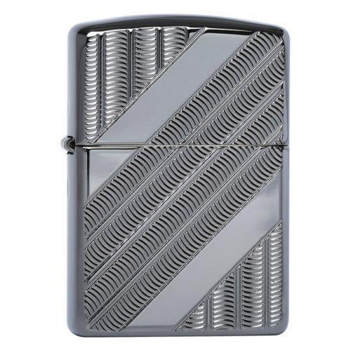 Зажигалка ZIPPO Armor™ с покрытием High Polish Black Ice®, латунь/сталь, чёрная, 36x12x56 мм зажигалка zippo armor 3 6 х 1 2 х 5 6 см 28808