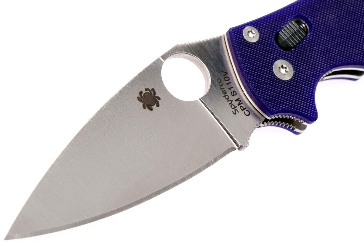 Фото 6 - Нож складной Manix 2 Blue Spyderco 101GPDBL2, сталь Crucible CPM® S110V™ Satin Plain, рукоять стеклотекстолит G10, синий