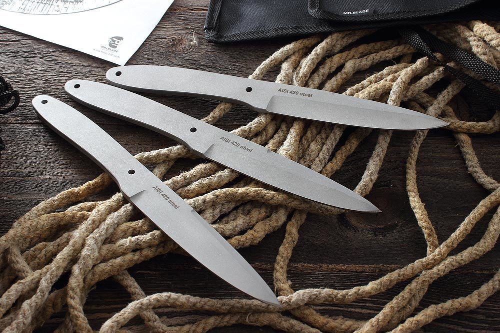 Фото 23 - Набор из 3-ёх метательных ножей TRACE LINE Satin от Mr.Blade