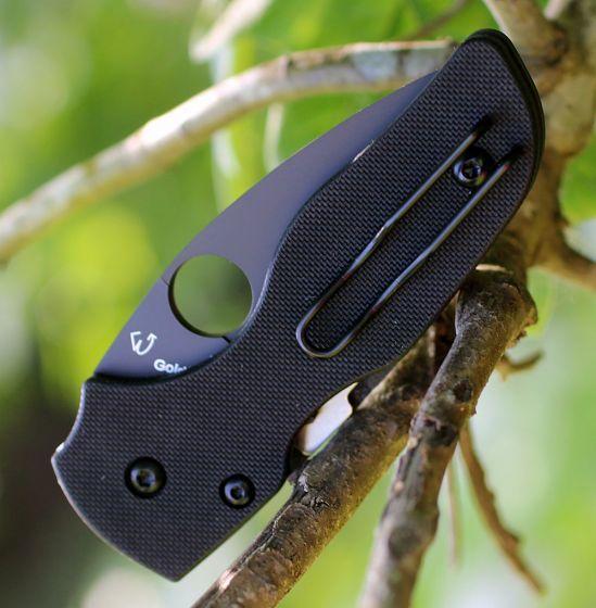 Фото 6 - Нож складной Lil' Native - Spyderco 230GPBBK, сталь Crucible CPM® S30V™ DLC Coated Plain, рукоять стеклотекстолит G10, чёрный