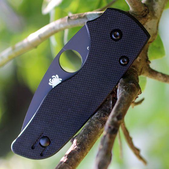 Фото 7 - Нож складной Lil' Native - Spyderco 230GPBBK, сталь Crucible CPM® S30V™ DLC Coated Plain, рукоять стеклотекстолит G10, чёрный