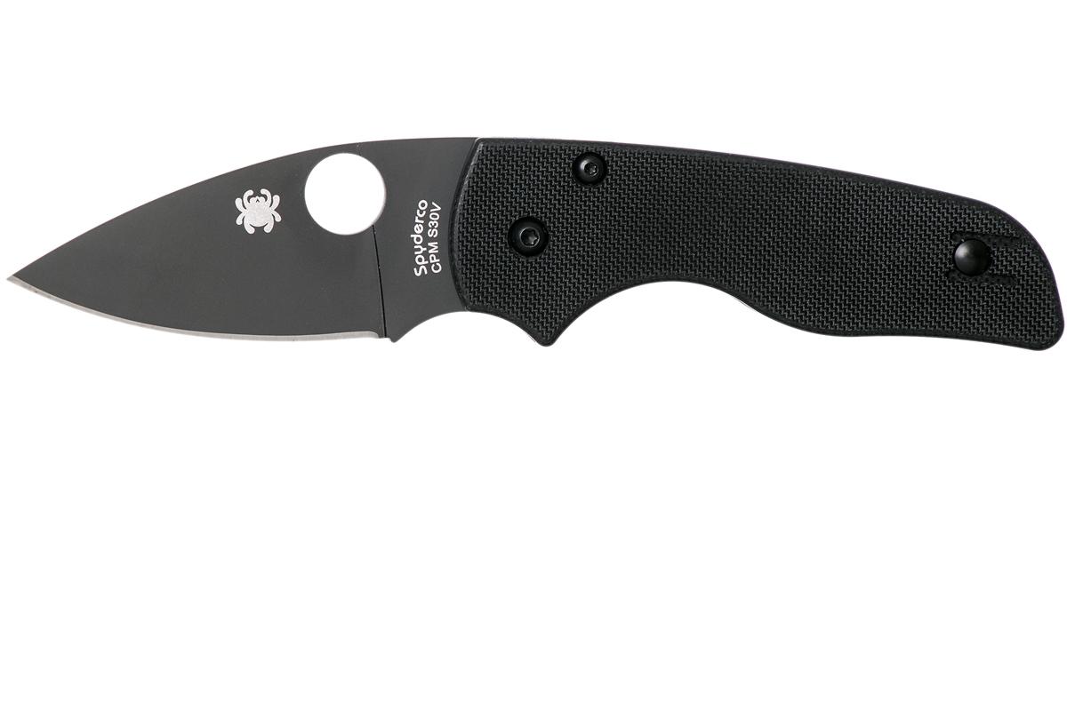Фото 8 - Нож складной Lil' Native - Spyderco 230GPBBK, сталь Crucible CPM® S30V™ DLC Coated Plain, рукоять стеклотекстолит G10, чёрный