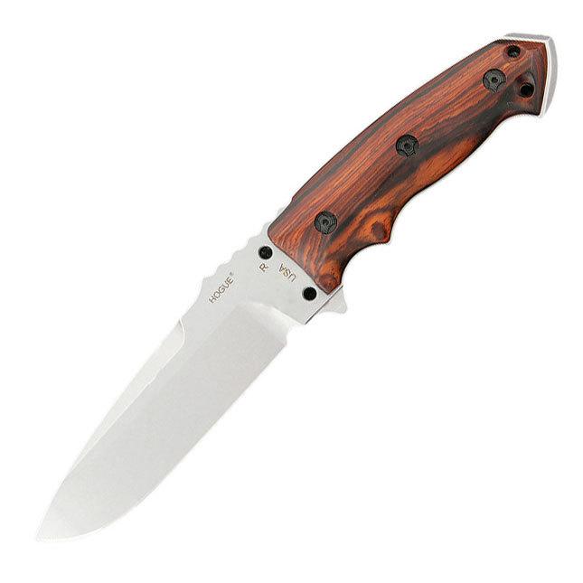 Нож с фиксированным клинком Hogue EX-F01, сталь A2 Tool Steel Stone-Tumbled, рукоять дерево кокоболо