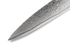 """Нож кухонный """"Samura 67"""" для нарезки  195 мм, дамаск 67 слоев, черная пакка, фото 2"""