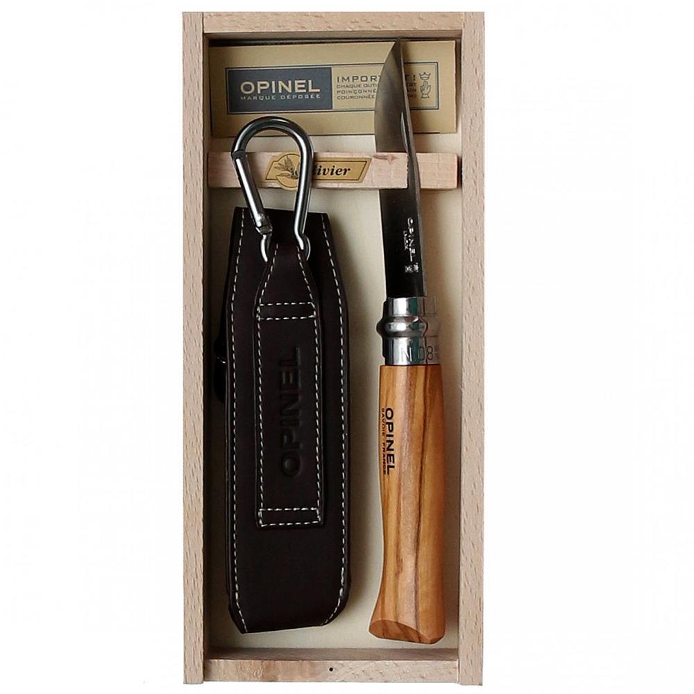 Фото 9 - Складной Нож Opinel №8 VRI Classic Woods Traditions Olivewood, нержавеющая сталь Sandvik 12C27, оливковое дерево, 001004, деревянный футляр, чехол