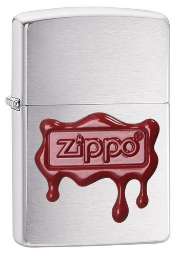 Зажигалка ZIPPO Classic с покрытием Brush Finish Chrome, латунь/сталь, серебристая, матовая, 36x12x5 contemporary chrome finish temperature visualizer water purification led showerhead silver