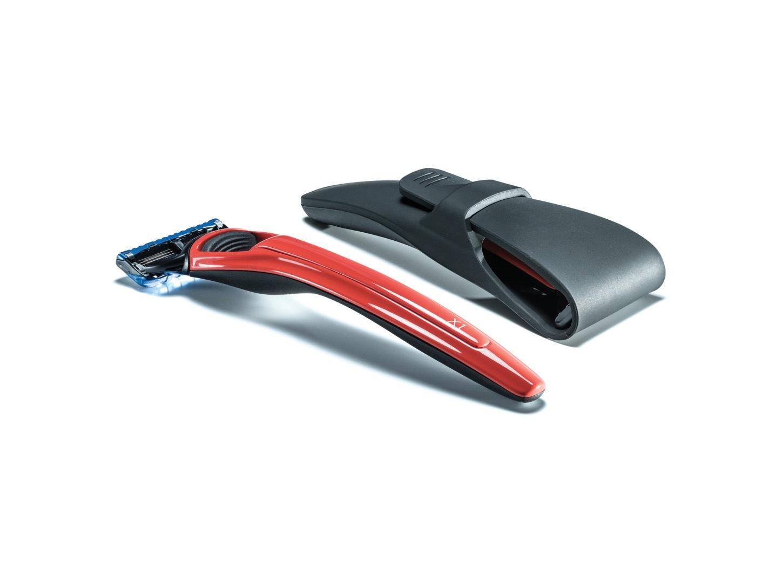 Подарочный набор Bolin Webb X1, бритва X1 красная, дорожный чехол цена