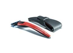 Подарочный набор Bolin Webb X1, бритва X1 красная, дорожный чехол
