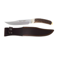 Нож с фиксированным клинком Muela, сталь X50CrMoV15, рукоять резной олений рог, фото 3