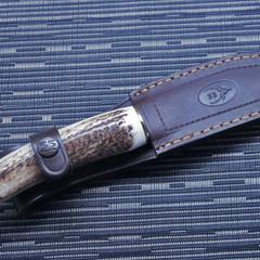 Нож с фиксированным клинком Muela, сталь X50CrMoV15, рукоять резной олений рог, фото 8