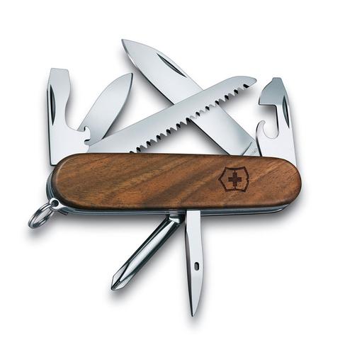 Нож перочинный Victorinox Hiker Wood, сталь X55CrMo14, рукоять ореховое дерево, коричневый. Вид 2
