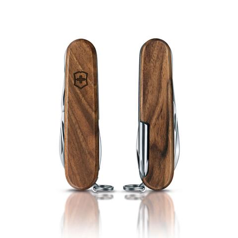 Нож перочинный Victorinox Hiker Wood, сталь X55CrMo14, рукоять ореховое дерево, коричневый. Вид 8