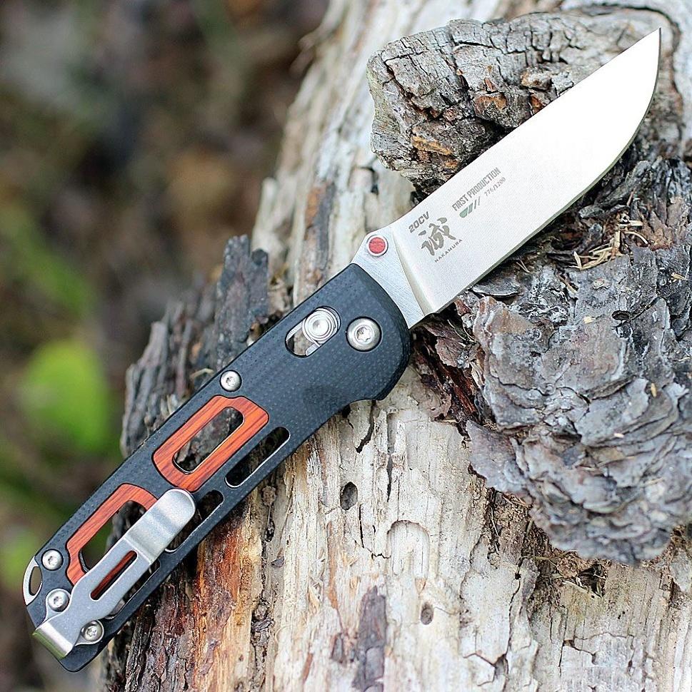 Фото 3 - Складной нож Benchmade 486 Saibu, сталь CPM-20CV, рукоять G-10/дерево