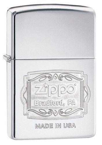 Зажигалка ZIPPO Classic с покрытием High Polish Chrome, латунь/сталь, серебро, 36x12x56 ммЗажигалка ZIPPO Classic с покрытием High Polish Chrome, латунь/сталь, серебристая, 36x12x56 мм