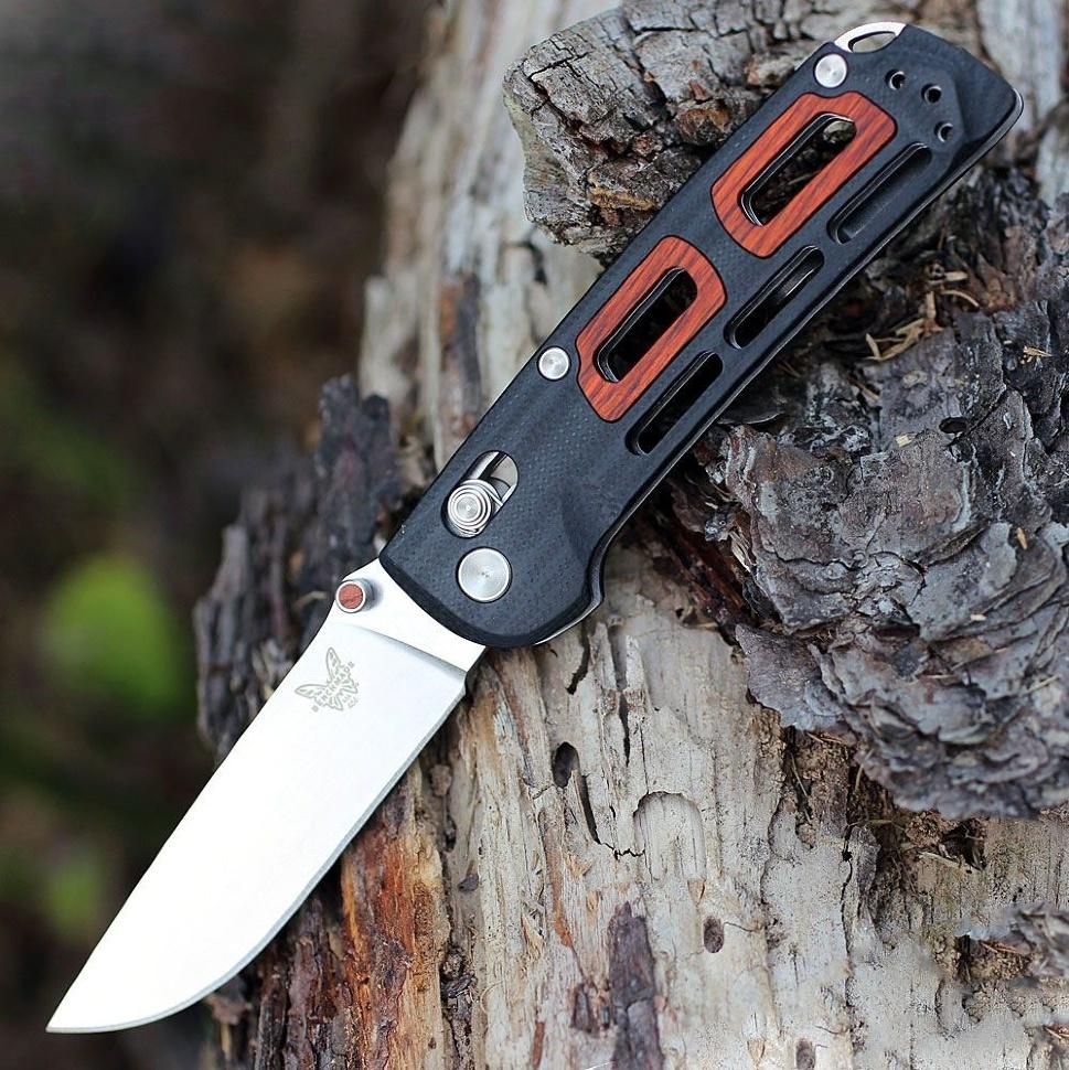 Фото 4 - Складной нож Benchmade 486 Saibu, сталь CPM-20CV, рукоять G-10/дерево